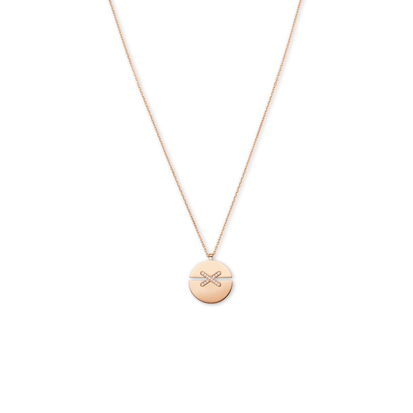 Jeux de Liens Harmony Rose Gold large model pendant  - Pink Gold - Chaumet