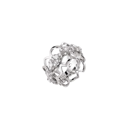 "Hortensia ""Astres d'Or"" bandeau ring - White Gold - Chaumet"