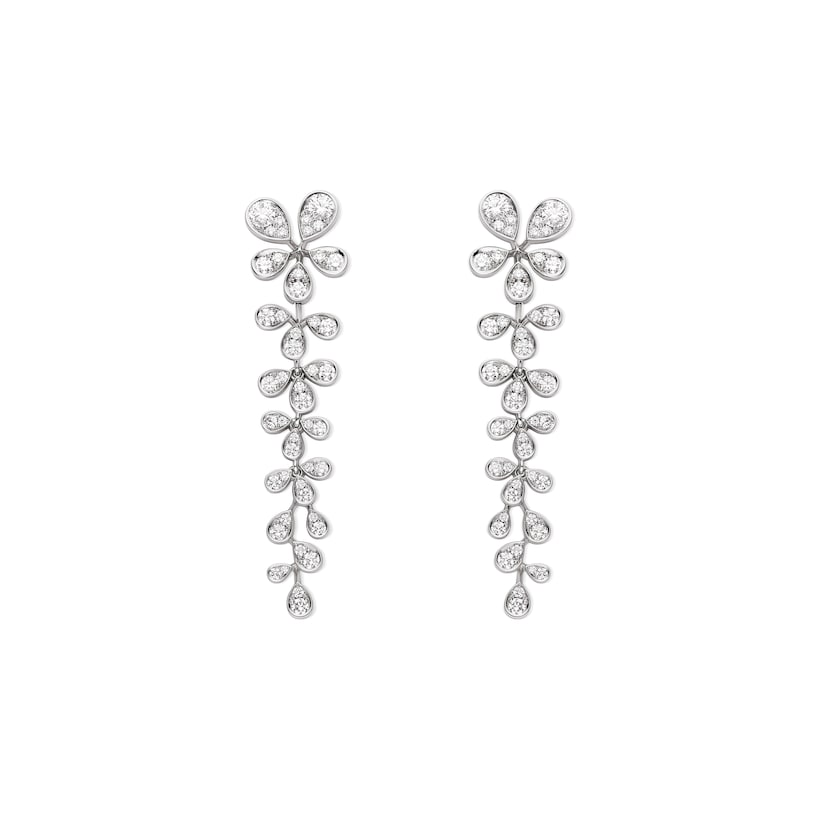 Joséphine Aigrette Impériale transformable earrings - White Gold - Chaumet