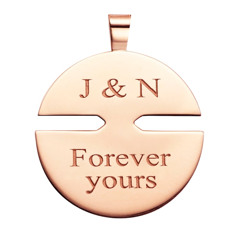 Jeux de Liens Harmony Rose Gold medium model pendant  - Pink Gold - Chaumet