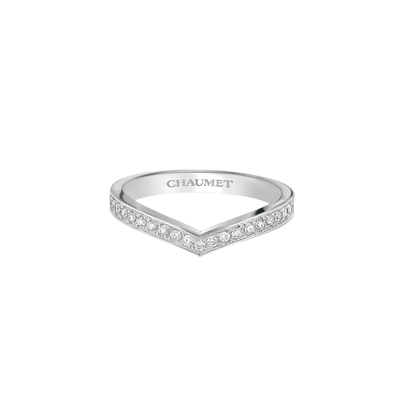 Joséphine Aigrette wedding band - Platinum - Chaumet