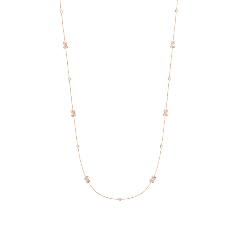 Jeux de Liens long necklace  rose gold and diamonds - Pink Gold - Chaumet