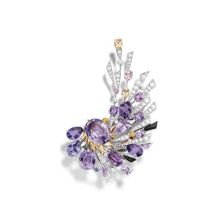 Lueurs d'Orage brooch - White Gold - Chaumet