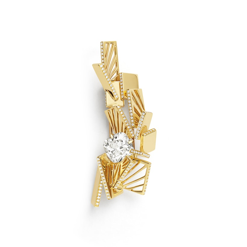 Skyline brooch - Yellow Gold - Chaumet