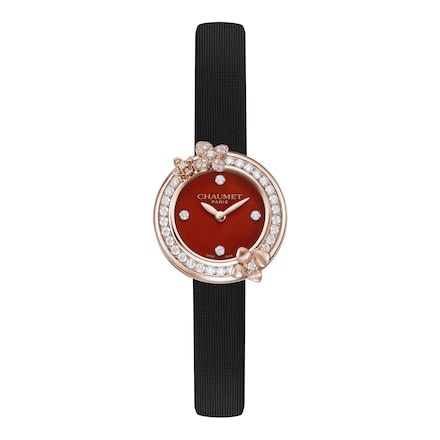 "Montre Hortensia ""Eden"" - Or rose - Chaumet"