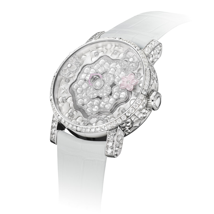 "Hortensia ""Astres d'Or"" watch Extra Large Model - White Gold - Chaumet"