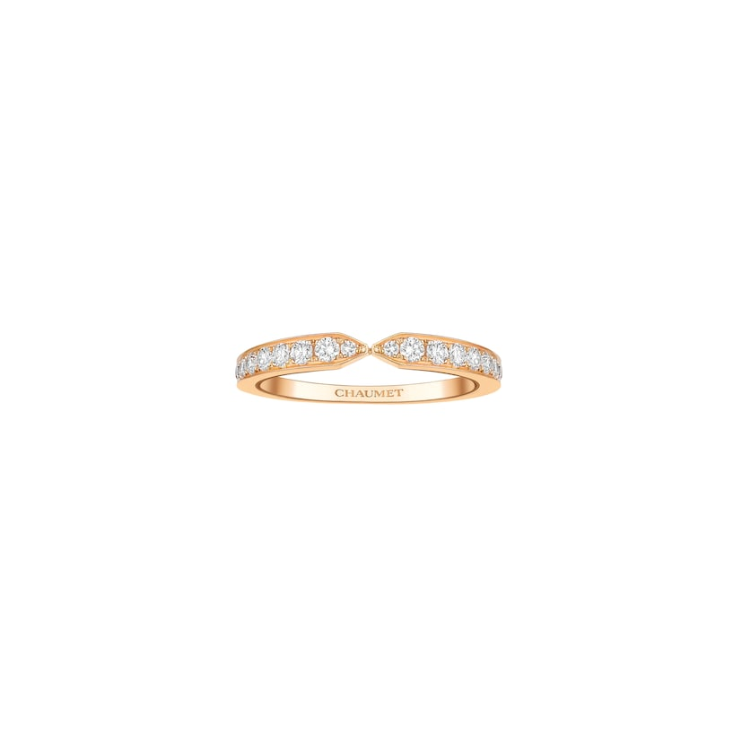 Triomphe de Chaumet wedding band - Pink Gold - Chaumet