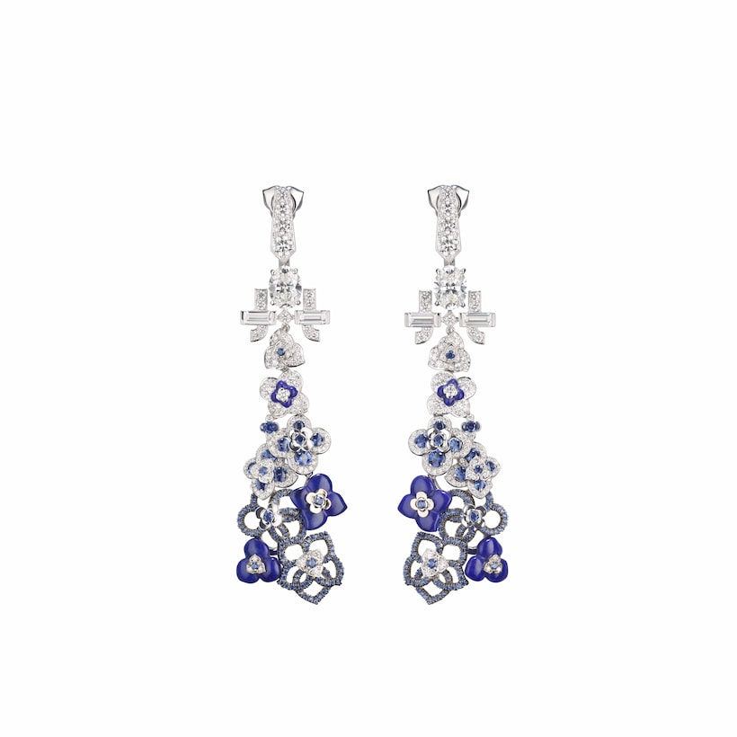Jardins Hortensia Voie Lactée earrings - White Gold - Chaumet