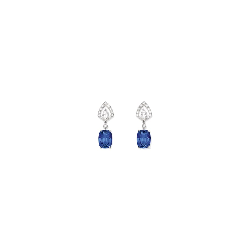 Souveraine de Chaumet earrings Sapphire - White Gold - Chaumet