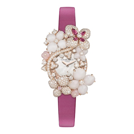 Hortensia Aube Rosée Brooch Watch Small Model - Pink Gold - Chaumet