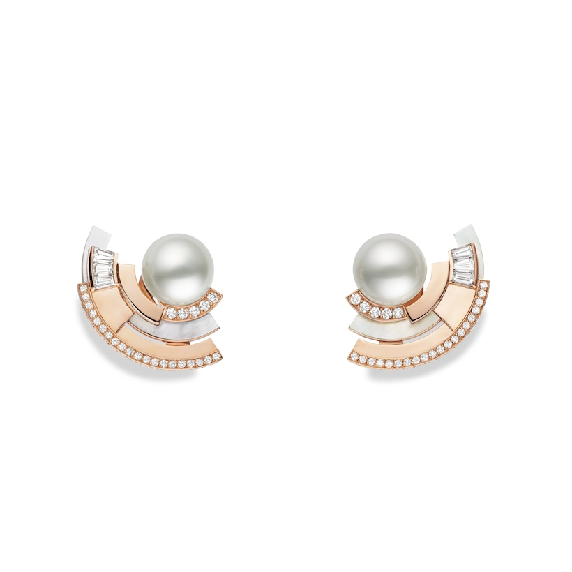 Labyrinthe earrings  - Pink Gold - Chaumet