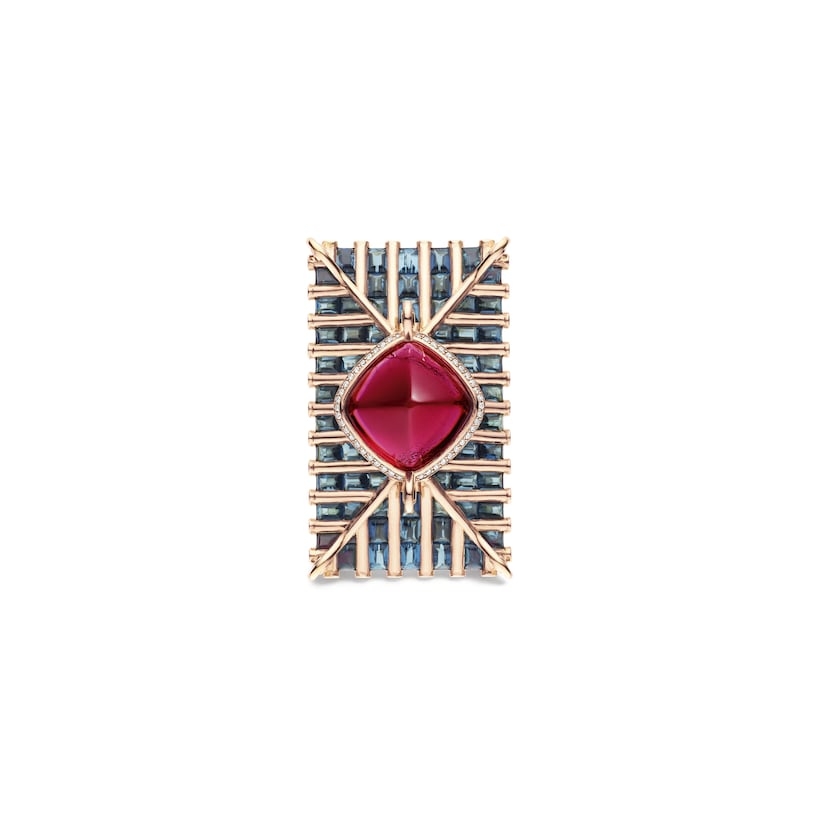 Bague Lady Wei rubellite - Or rose - Chaumet
