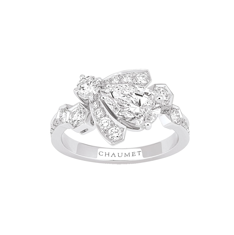 Bee My Love 戒指 - 白金 - Chaumet