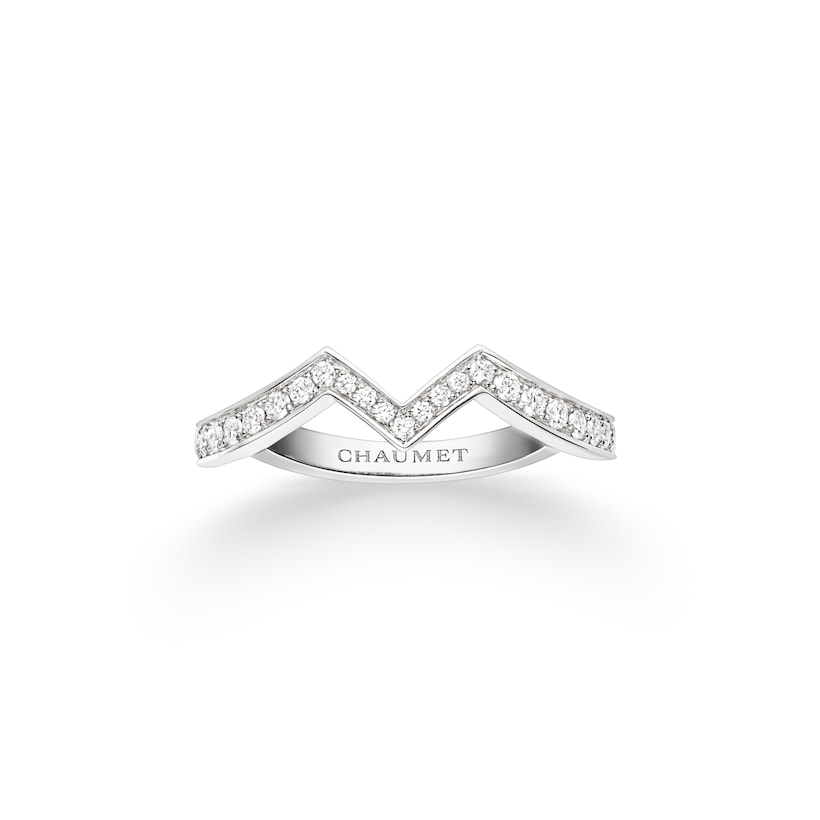 Joséphine Amour d'Aigrette wedding band - Platinum - Chaumet
