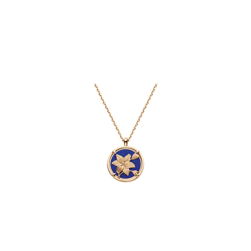 Légende de Chaumet lapis lazuli and diamonds small model pendant  - Pink Gold - Chaumet
