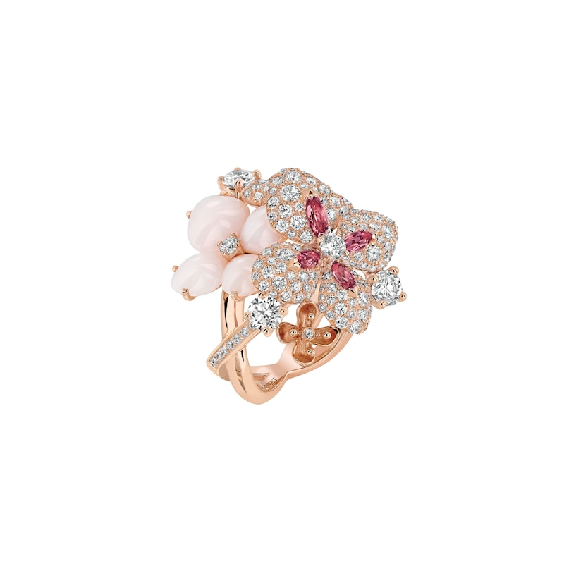 "Hortensia ""Aube Rosée"" ring - Pink Gold - Chaumet"