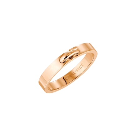 Liens Évidence wedding band - Pink Gold - Chaumet