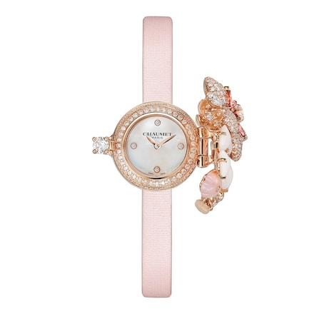 "Hortensia ""Aube Rosée"" secret watch Small Model - Pink Gold - Chaumet"