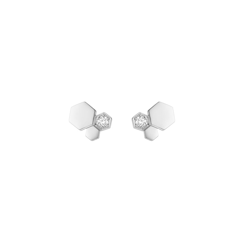 Boucles d'oreilles Bee My Love - Or blanc - Chaumet