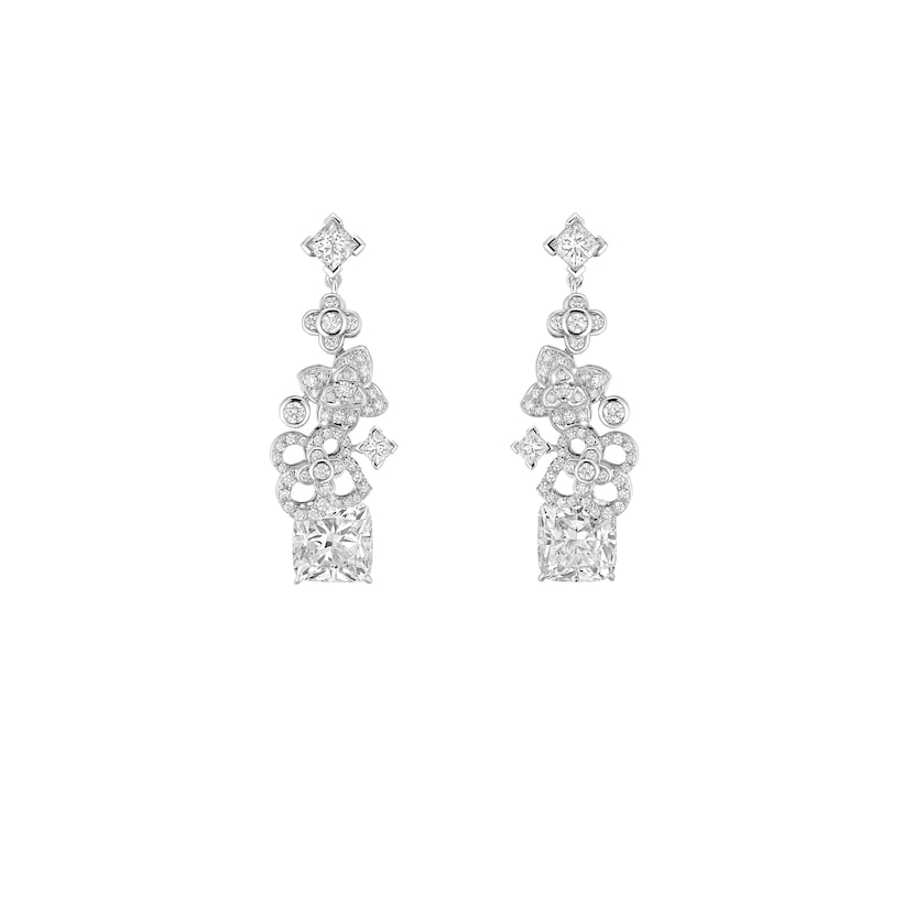 Jardins Hortensia Astres d'Or earrings - Platinum - Chaumet
