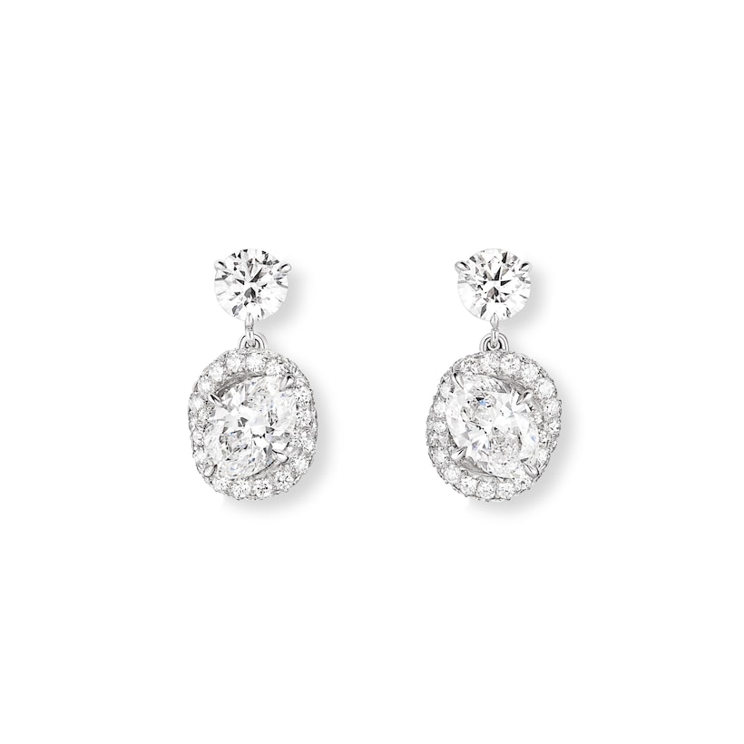 Liens d'Amour earrings - White Gold - Chaumet