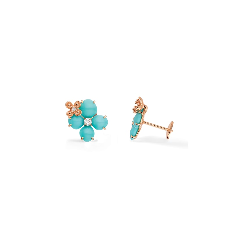 Hortensia Eden earrings - Pink Gold - Chaumet