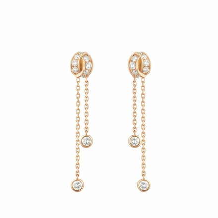 Liens Séduction earrings - Pink Gold - Chaumet