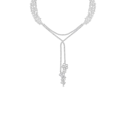 Collier Jardins Hortensia Astres d'Or - Platine - Chaumet