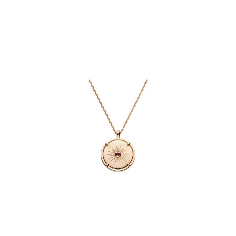 Légende de Chaumet carnelian and ruby small model pendant  - Pink Gold - Chaumet