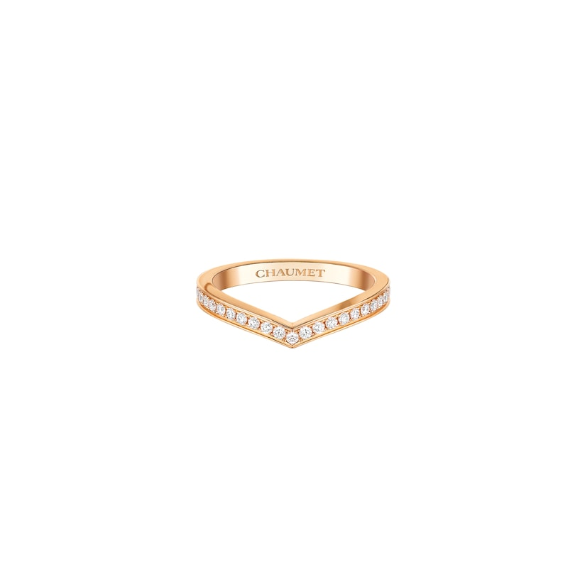 Joséphine Aigrette wedding band - Pink Gold - Chaumet