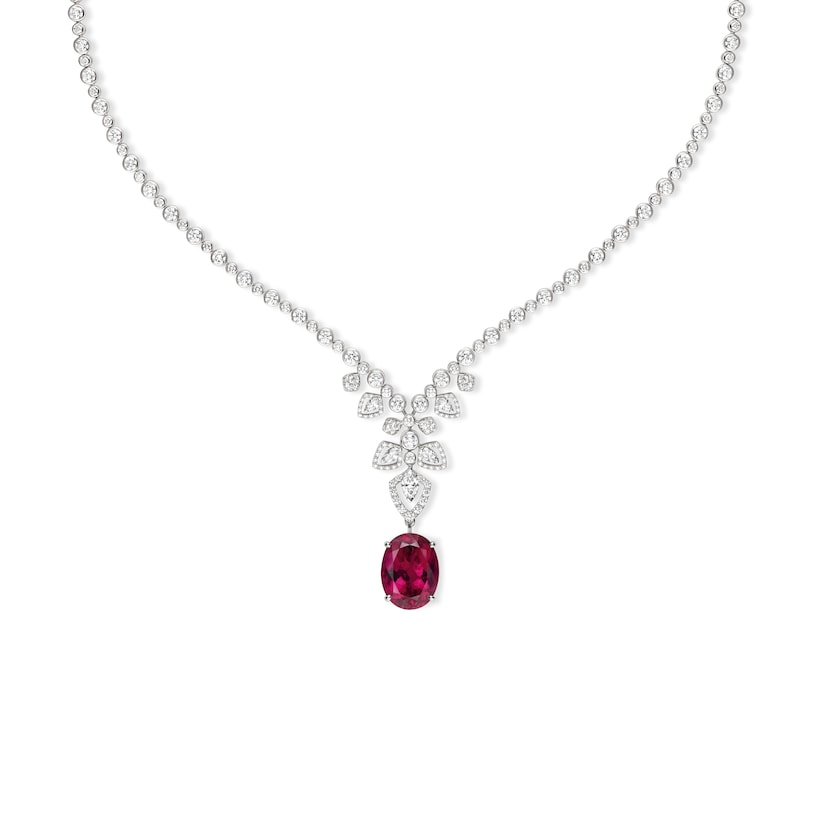 Souveraine de Chaumet transformable necklace Rubellite - White Gold - Chaumet