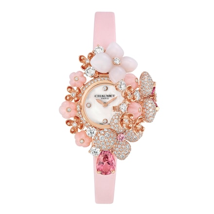 "Hortensia ""Aube Rosée"" secret watch, Large model - Pink Gold - Chaumet"