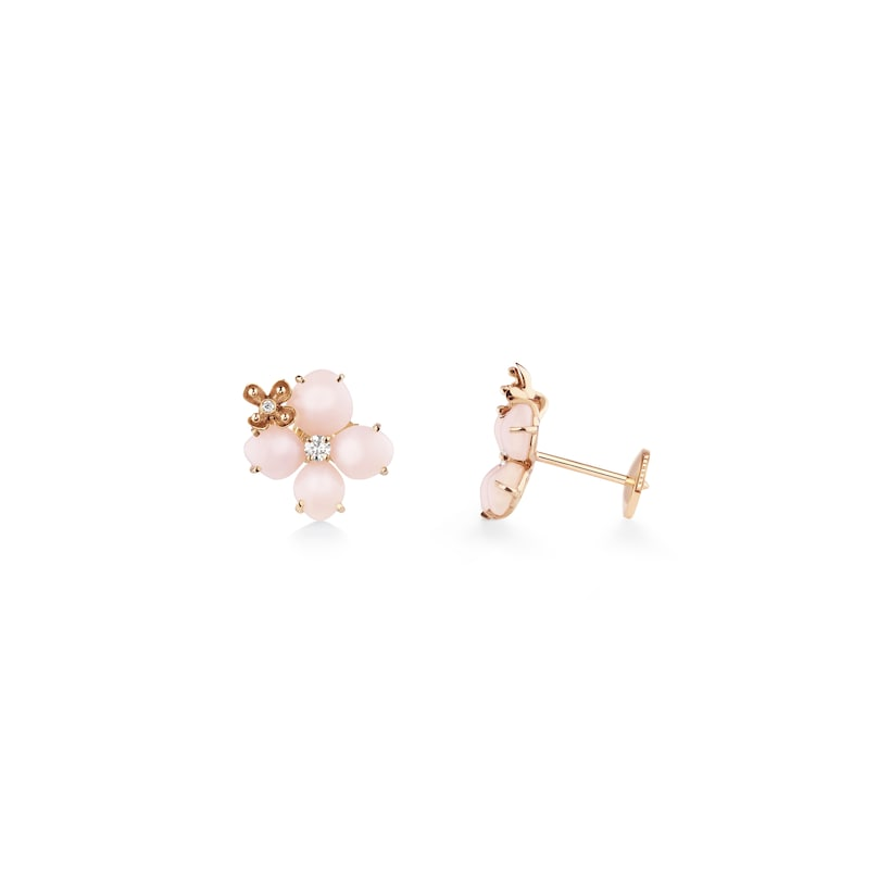 "Hortensia ""Aube Rosée"" earrings - Pink Gold - Chaumet"