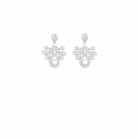 Joséphine Aigrette Impériale earrings - White Gold - Chaumet