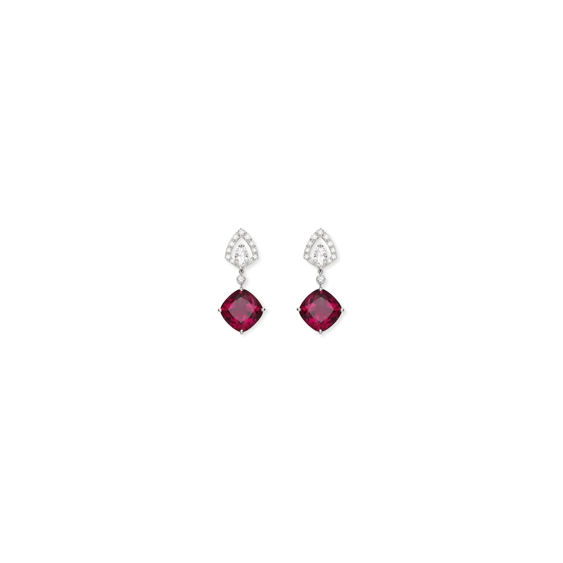 Souveraine de Chaumet earrings Rubellite - White Gold - Chaumet