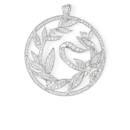 Pendentif Laurier - Or blanc - Chaumet