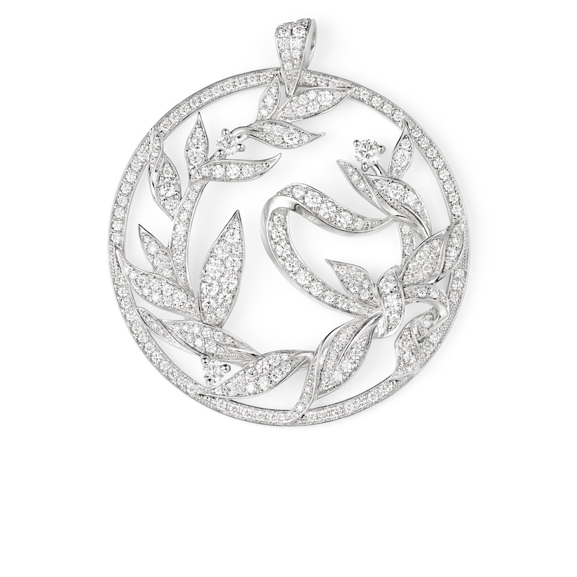 Laurier pendant - White Gold - Chaumet