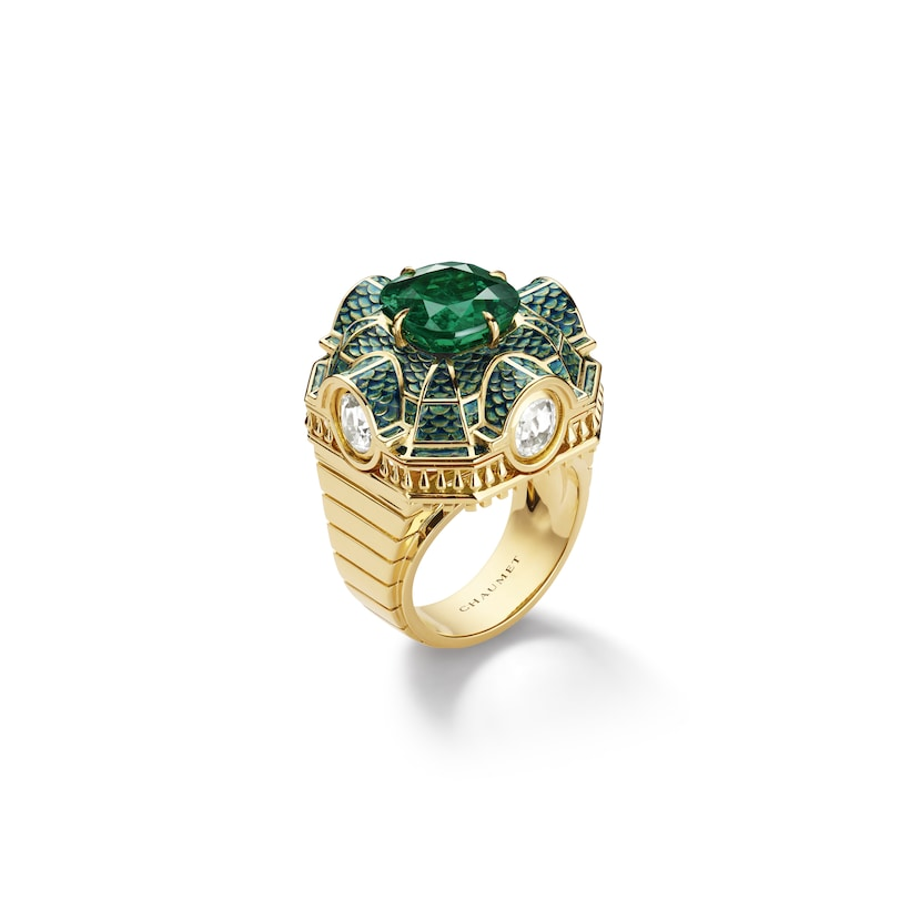 Isadora ring emerald - Yellow Gold - Chaumet