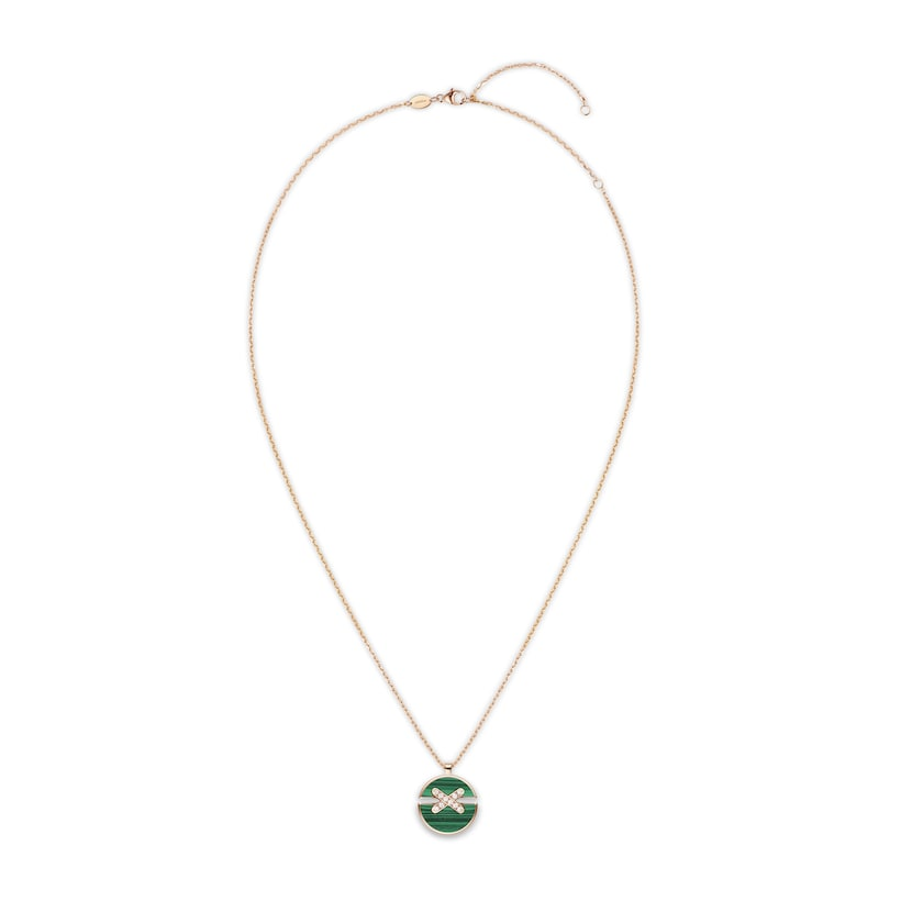 Jeux de Liens Harmony malachite medium model pendant - Pink Gold - Chaumet