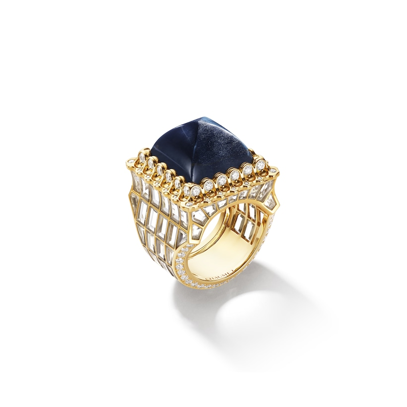Artemisia ring Hawk's Eye - Yellow Gold - Chaumet