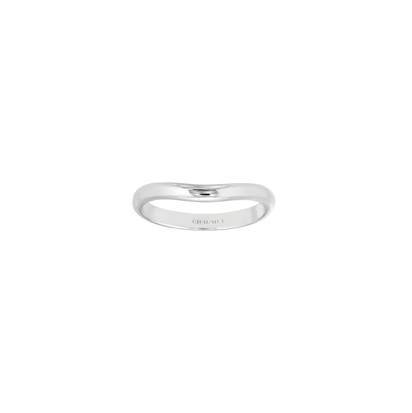 Liens d'Amour wedding band - Platinum - Chaumet