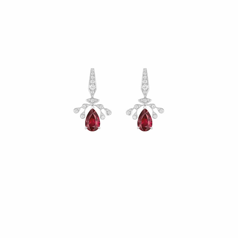 Joséphine Aigrette Impériale earrings - Platinum - Chaumet