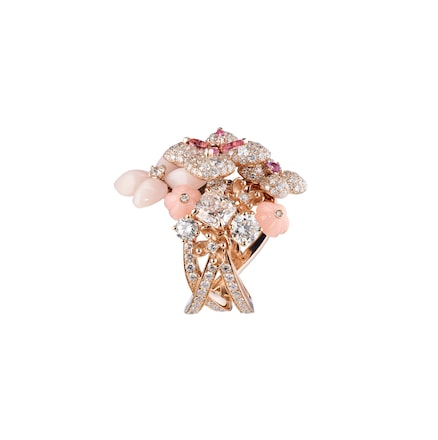 Jardins Hortensia Aube Rosée ring - Pink Gold - Chaumet
