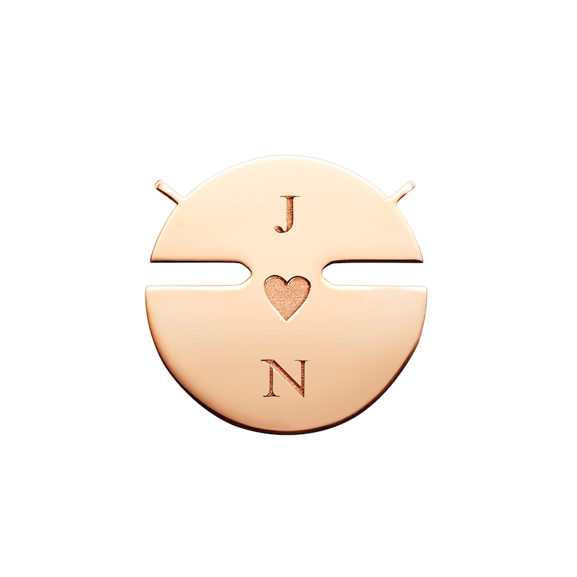 Jeux de Liens Harmony Mother-of-pearl small model pendant  - Pink Gold - Chaumet