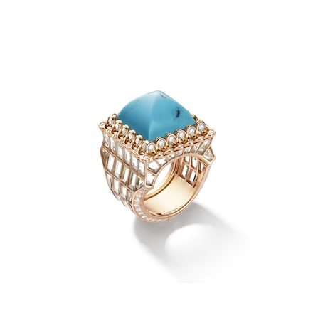 Artemisia ring turquoise - Yellow Gold - Chaumet