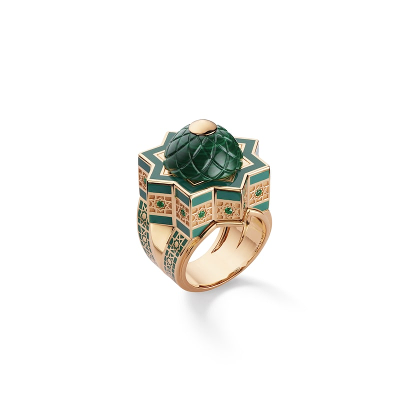 Shéhérazade ring malachite - Yellow Gold - Chaumet