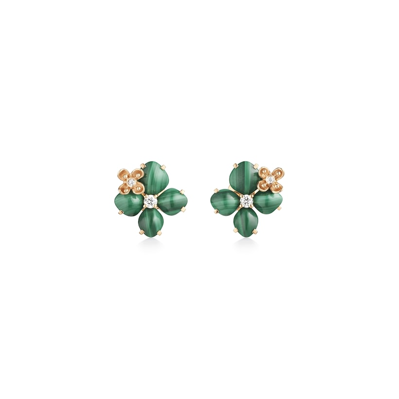 "Hortensia ""Eden"" earrings - Pink Gold - Chaumet"