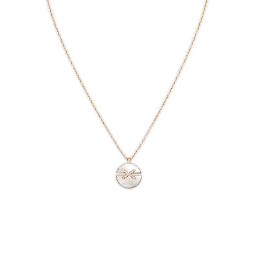 Jeux de Liens Harmony Mother-of-pearl medium model pendant  - Pink Gold - Chaumet