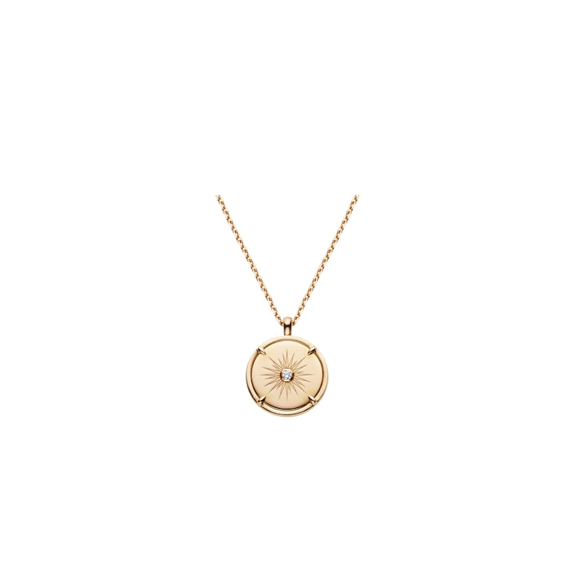Légende de Chaumet grey mother-of-pearl and diamond small model pendant  - Pink Gold - Chaumet