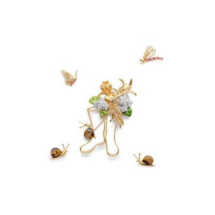 Sonate d'Automne brooch - Pink Gold - Chaumet